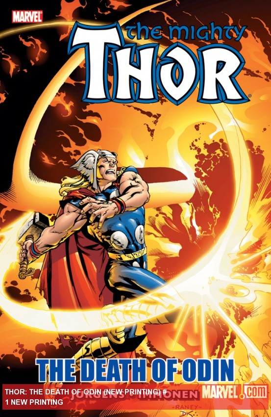 THOR: THE DEATH OF ODIN TPB (NEW PRINTING) cover by Tom Raney