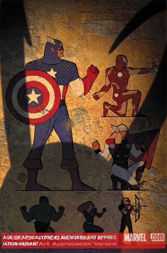 Age of Apocalypse #2 variant cover by Christian Nauck