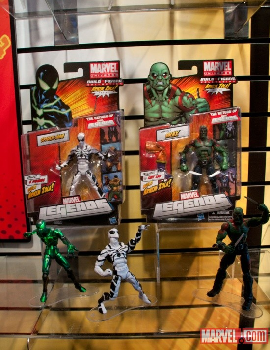 Hasbro Marvel Universe Build A Figure Spider-Man and Drax