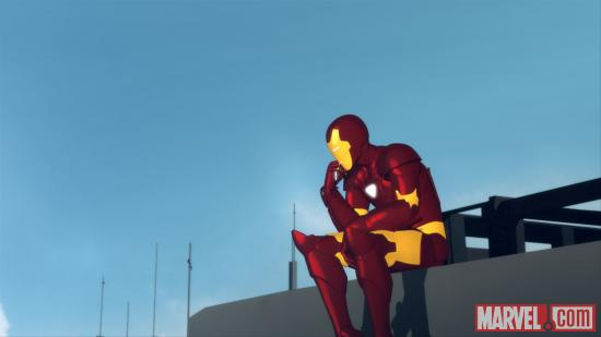 Screenshot of Iron Man from Iron Man: Armored Adventures
