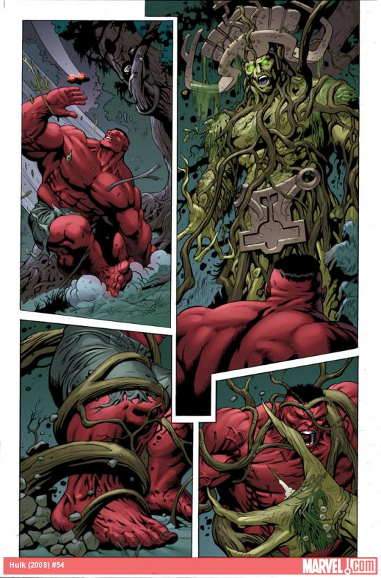 Hulk #54 preview art by Dale Eaglesham & Val Staples