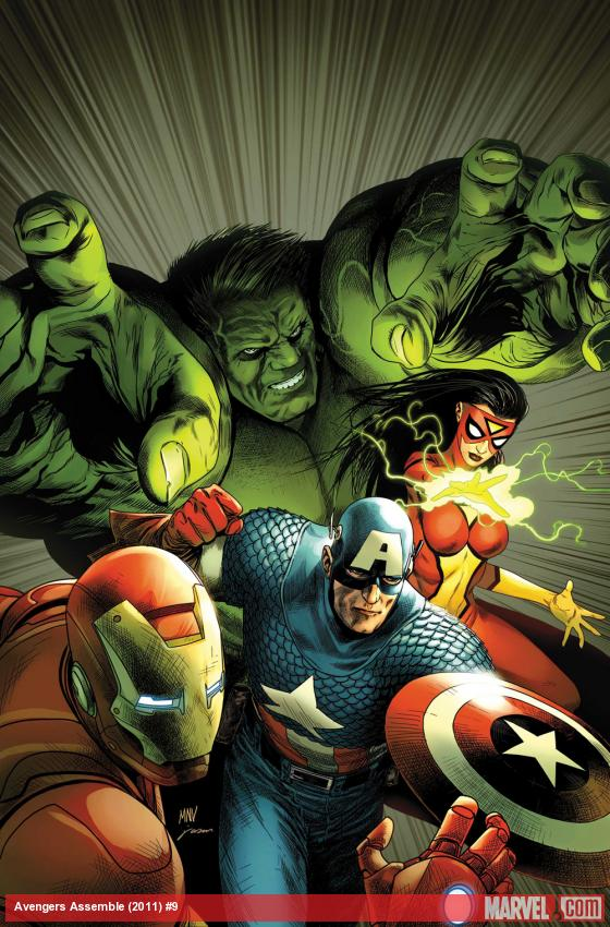 Avengers Assemble #9 cover by Steve McNiven