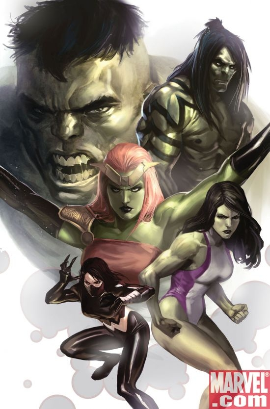 HULK FAMILY #1 cover by Marko Djurdjevic