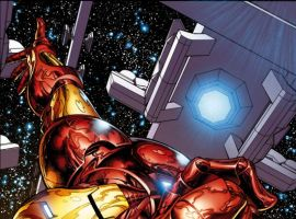 INVINCIBLE IRON MAN #1 cover by Joe Quesada