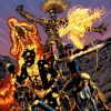 Image Featuring Cannonball, Magik (Illyana Rasputin), Magma (Amara Aquilla), Moonstar, Sunspot, Wolfsbane, Warlock (Technarchy), New Mutants