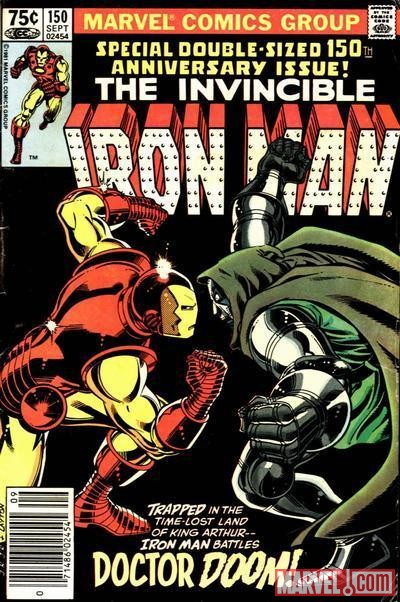 IRON MAN #150 cover by John Romita Jr.
