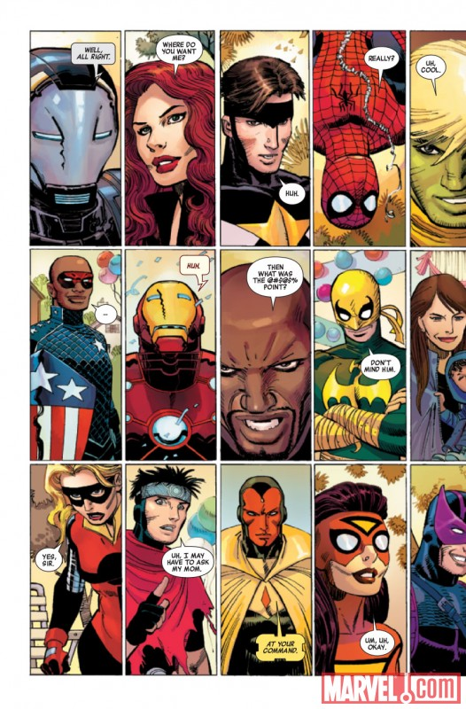 AVENGERS #1 preview art by John Romita JR