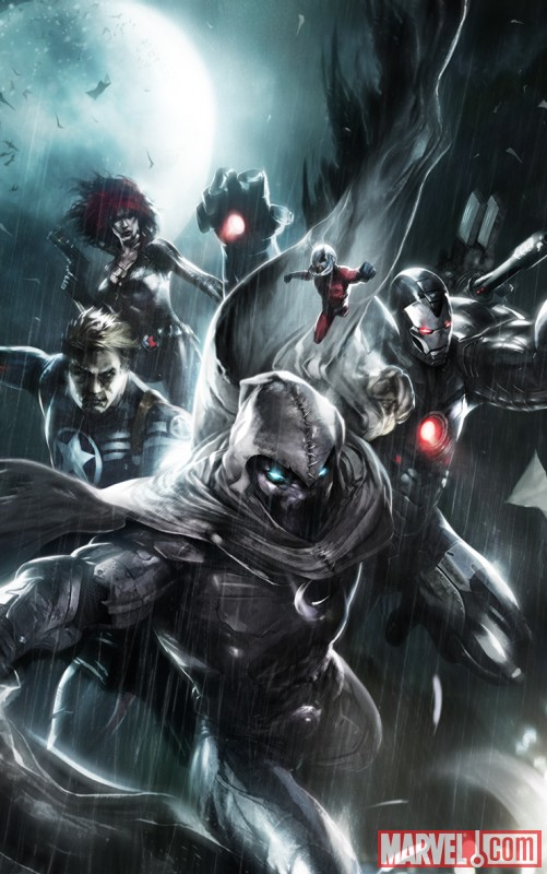 Image Featuring Moon Knight, War Machine (James Rhodes), Ant-Man (Eric O Grady), Avengers, Black Widow