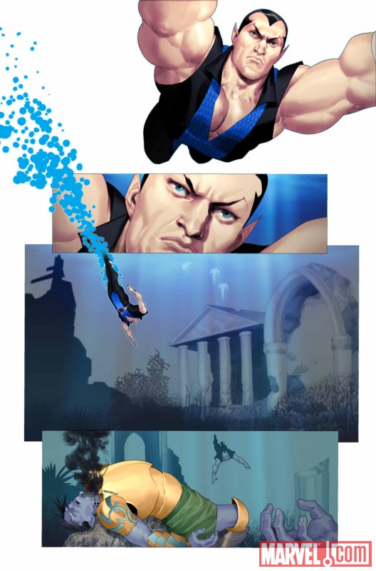 NAMOR: THE FIRST MUTANT #1 preview art by Ariel Olivetti 3