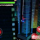 Screenshot of Spider-Man web-swinging in ''Spider-Man: Total Mayhem''