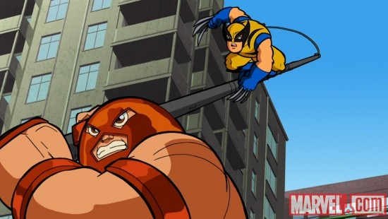 Wolverine and the Juggernaut in The Super Hero Squad Show