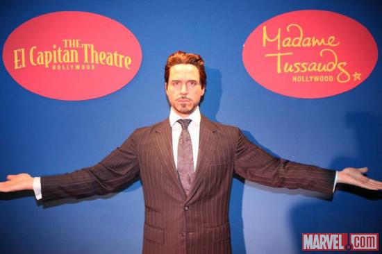 Tony Stark wax figure at the El Capitan Theatre in Hollywood