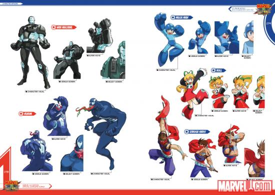 Marvel vs. Capcom: Official Complete Works character artwork