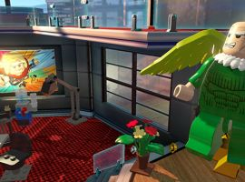 The Vulture attacks Marvel HQ in LEGO Marvel Super Heroes