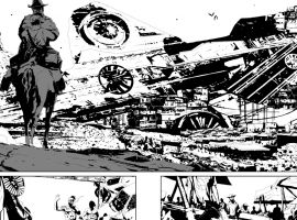 Old Man Logan preview inks by Andrea Sorrentino
