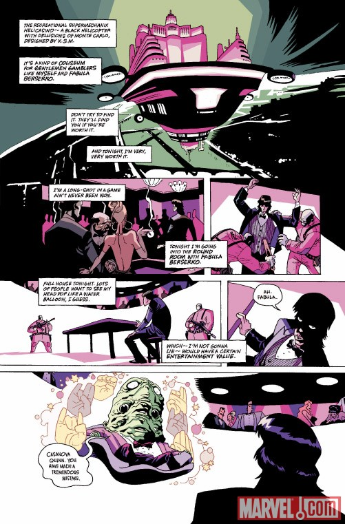 CASANOVA #1 preview art by Gabriel Ba