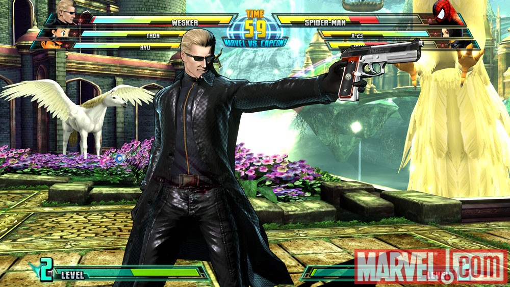 Wesker in Marvel vs. Capcom 3