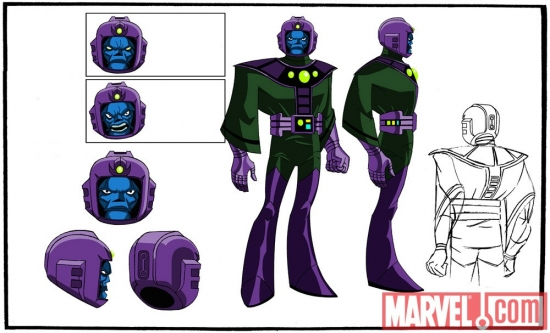 Final color art for Kang from 'The Avengers: Earth's Mightiest Heroes!'