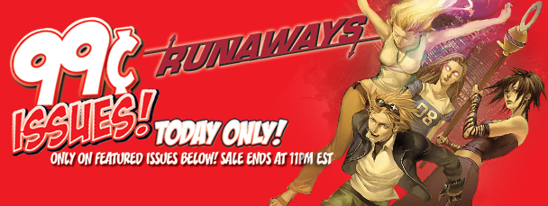 Marvel App: Get Runaways Issues for 99¢