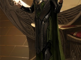 Loki concept art by Charlie Wen from the Art of Thor