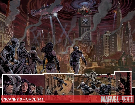 Uncanny X-Force #11 preview art by Mark Brooks