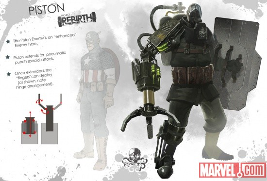 The Warden concept art from Captain America: Super Soldier