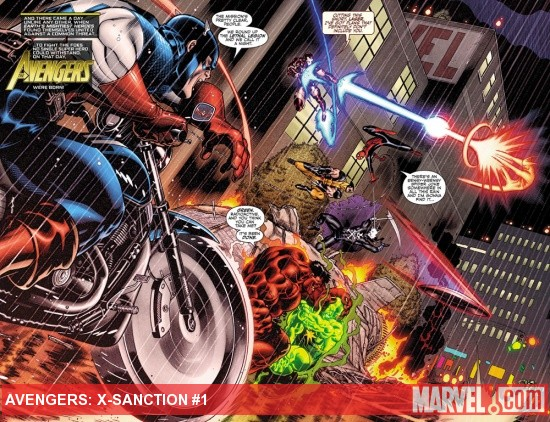 Avengers: X-Sanction #1 preview page by Ed McGuinness
