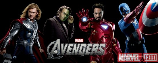 Marvel's The Avengers international character banner