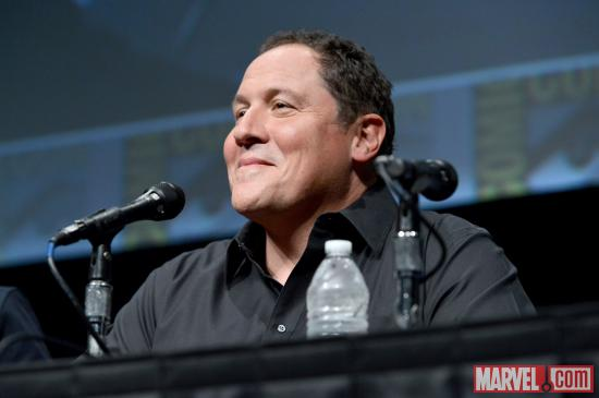 Iron Man 3 star Jon Favreau at Marvel Studios' Hall H presentation at SDCC 2012