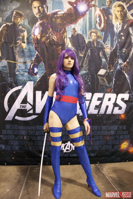Psylocke cosplayer at Fan Expo 2012