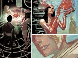 Elektra #9 preview art by Michael Del Mundo