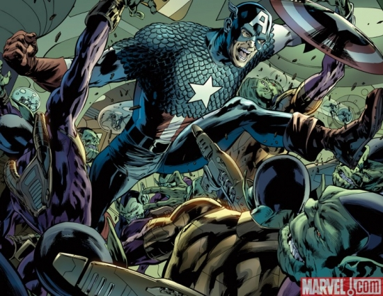 CAPTAIN AMERICA: REBORN #3 preview art by Bryan Hitch &amp; Butch Guice