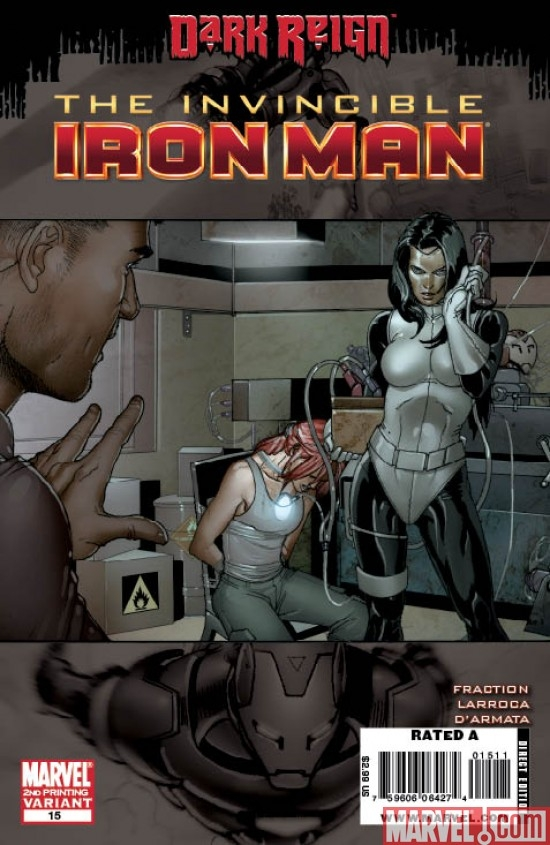 INVINCIBLE IRON MAN #15 SECOND PRINTING VARIANT