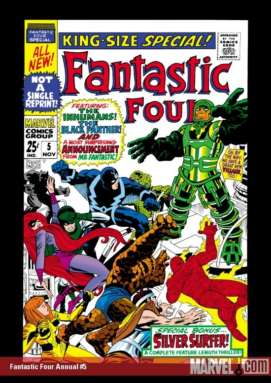 FANTASTIC FOUR ANNUAL #5 COVER