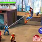 Screenshot of Spider-Man's web attack in ''Spider-Man: Total Mayhem''