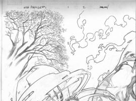 NEW AVENGERS #1 pencil art by Stuart Immonen 2