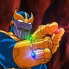 Thanos wields the Infinity Gauntlet in The Super Hero Squad Show