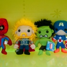 Spider-Man, Thor, Hulk, and Captain America plush from Funko