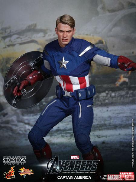 Marvel's The Avengers Captain America Figure from Hot Toys