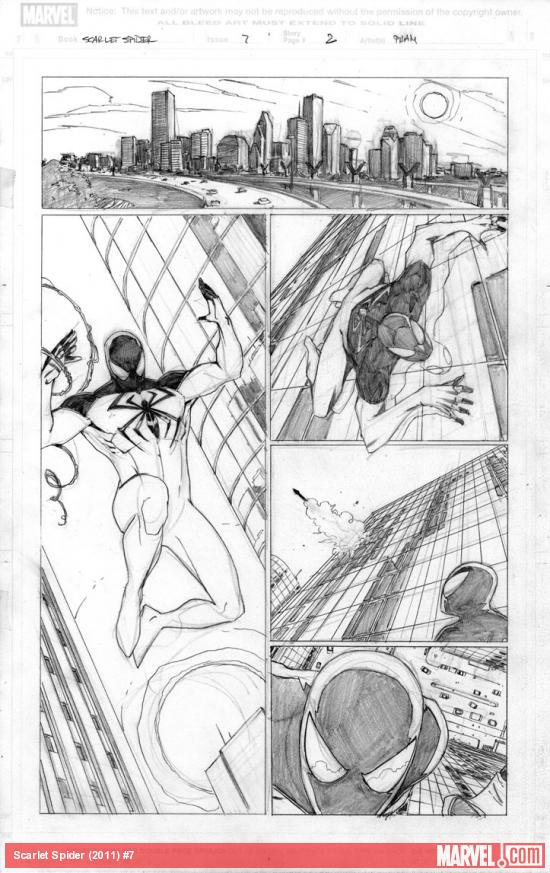 Scarlet Spider #7 preview pencils by Khoi Pham
