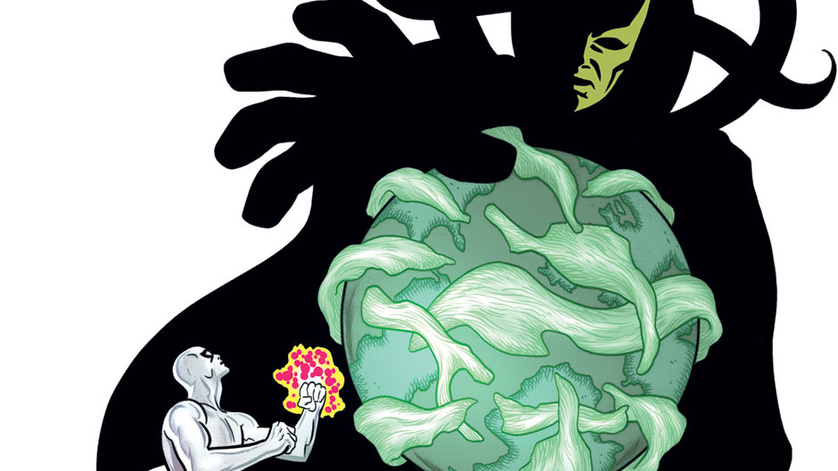 Silver Surfer #13 cover by Mike Allred
