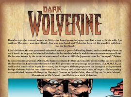 DARK WOLVERINE #77, intro page