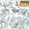 New Avengers #1 cover by JIm Valentino
