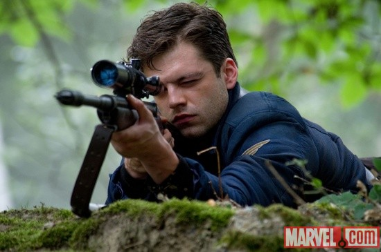 Sebastian Stan stars as Bucky Barnes in Captain America: The First Avenger