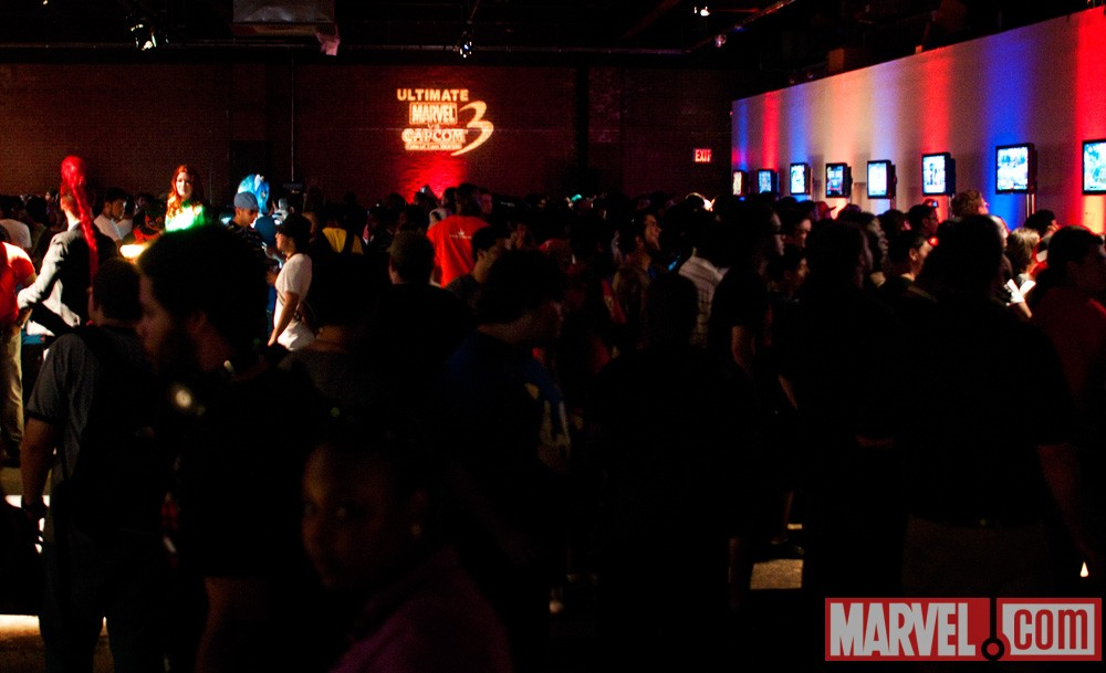 The scene inside Capcom's New York Fight Club
