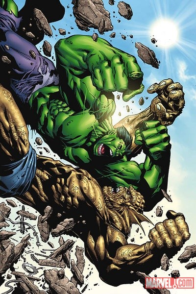 Hulk vs. Abomination by Aaron Lopresti