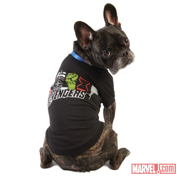 Avengers Black Dog Tee by Fetch available at PetSmart