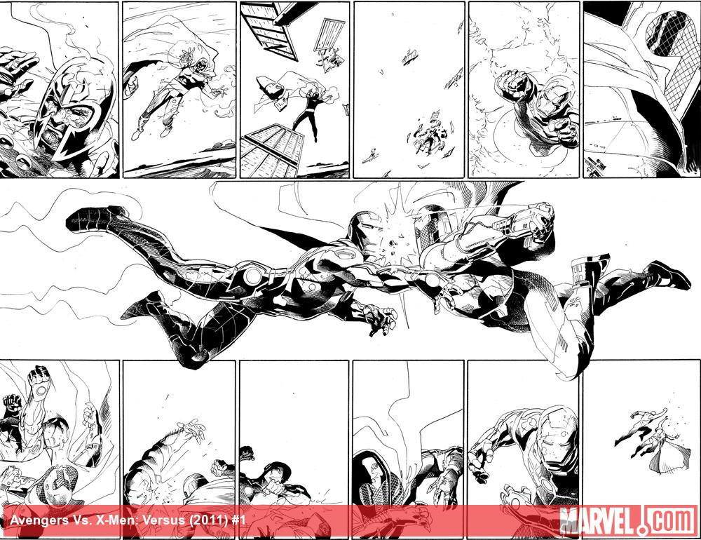 AvX: VS #1 inked preview art by Adam Kubert