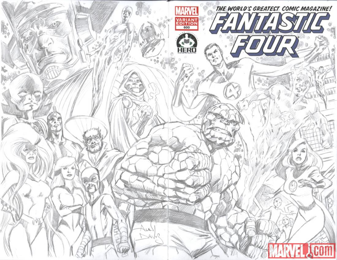 Fantastic Four #600 Hero Initiative variant cover by Alan Davis