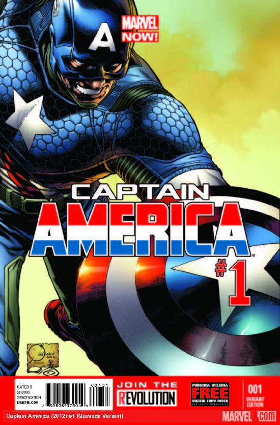 CAPTAIN AMERICA 1 QUESADA VARIANT